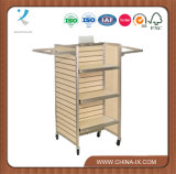 Customized H Unit Metal Framed Slat Wall Display Stand