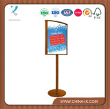 Wood Sign Stand with Curved Frame