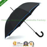 "27"" Automatic Fiberglass Golf Umbrella with Rubber Handle (GOL-0027BFR)"