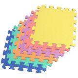 23.6′′x23.6′′ EVA Foam Floor Mat with Border, Baby Crawling Mat, Game Pad