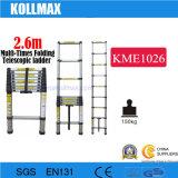 2.6m Aluminum Telescopic Ladder with En131