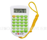 8 Digits Mini Size Pocket Calculator with Hanging Cord and Various Optional Colors (LC304)