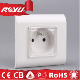 French Type Electric Socket with Water Proof Cover