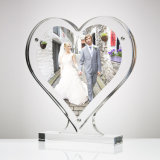 Clear Acrylic Throughout Table Top Heart Shaped Photo Frame
