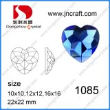 Heart Shaped Glass Stones Colored Glass Stones, Crystal Amethyst Heart Gemstone Heart Cut for Glass Stones