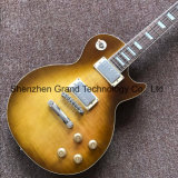 Lp Style Electric Guitar in Lemon Burst with One Piece Body Neck (GLP-510)