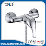 Chrome Brass Wall Mounted Exposed Single Handle Mixer Shower Faucet