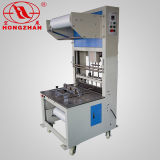 Manual Semiautomatic Sealer Combined with Shrinking Furnace Room for 3 Side Sealing Packing with Roller and Folded POF Film