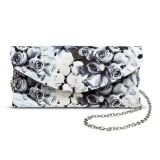 Rose Printed Ladies Fashion Charming PU Clutch Evening Bag (ZX20217)