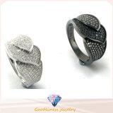 Hot Sale Fashion Jewelry Women CZ Stone Silver Ring (R10148)
