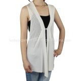 Women Knitted V Neck Sleeveless Fashion Clothes with Buttons