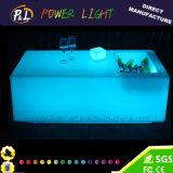 Plastic Rechargeable Illuminated LED Bar Table with Ice Box
