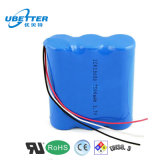 3s1p 18650 11.1V Packs 3400mAh Li-ion Battery Pack with Charger