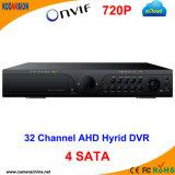 4SATA 32CH Standalone H. 264 Ahd Hybrid CCTV DVR P2p