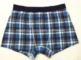 Allover Checks Printed New Style Men′s Boxer Short Underwear