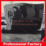 European Style Black Granite Tombstone, Headstone, Monument