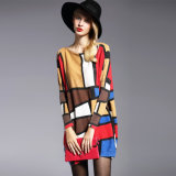 Oversize Women′s Printing Sweater Pullover Wholesale Cheap