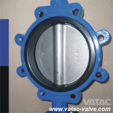 Cast Iron Body C95800/B62 Al-Bronze PTFE Lug Butterfly Valve