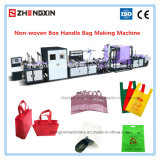 Zxl-E700 Non-Woven Box Bag Making with Online Handle Attach Machine (5-in-1)