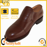 Brown Full Grain Cow Leather Uniform Shoes