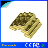 Real Full Capacity 16GB Metal Golden Bar Style USB Flash Drive