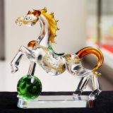 Nice Glass Crystal Running Horse for Souvenir Gift