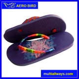 Fashion PE Lady Footwear Slipper with Strap Decoration (14A280)