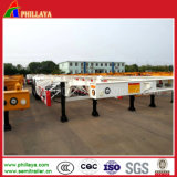 3 Axle 40-60ton 40FT- 20FT Truck Skeleton Container Semi Trailer