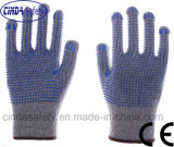Double PVC Dots Labor Protection Industrial Safety Work Cotton Gloves