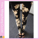 2016 Hot Sale High Quality Lady′s Printed Flower Leggings