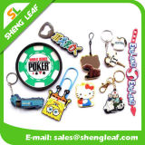 Eco-Friendly Rubber Keychain for Decoration (SLF-KC100)