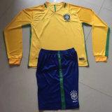 2016 2017 Season Brazil Home Yellow Long Sleeve Football Kits