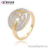 Xuping Charm Simple Stretch Grooved Fashion Jewelry Ring with Two-Stone 13675