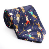 100% Silk Polyester Custom Made Fancy Printed Necktie (NT-019)