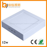 Include LED Driver 12W >90lm/W Surface Mounted AC85-265V Factory Surface Mounted Square Ceiling Lighting LED Panel Lamp Down Light