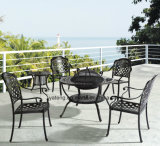 Popular Design Outdoor Garden Furniture Cast Aluminum Set with Ice Bucket BBQ Table& Chair (YT917)
