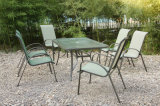 Dining Table 6 Chairs Outdoor Sectional Garden Furniture (FS-1202+1203+5102)