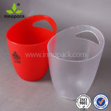 Custom Red and Clear PS Factory Plastic Ice Bucket
