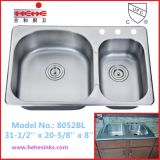 Kitchen Sink with Top Mount Installation and Cupc Certification (8052)