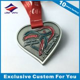 Heart Shape Unique Medals with Custom Ribbon