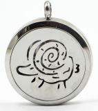 Aries Silver Stainless Steel Perfume Diffuser Locket Pendant