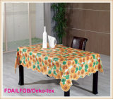 PVC Printed Tablecloth with Flannel Backing 60′′x90′′