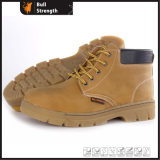 Leather Safety Boot with Rubber Sole (SN5410)
