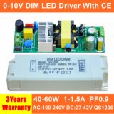 40-60W 0-10V Dim High PF LED Panel Light Power Supply with Ce QS1206