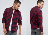 Slim Check Shirt in Navy Shirt