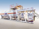 LNG Mini Station, LNG Tank with Vaporizer, LNG Refueling Station, 30 Cmb LNG Tank, LNG Mounted Skid,