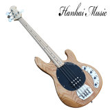 Hanhai Music / Ash Body Electric Bass Guitar with Black Pickguard