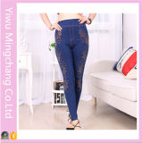Yiwu Factory Direct New Lady Korean Slim Denim Leggings