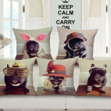 U. S Popular Cotton Linen Printed Cushion Cover Without Filler (35C0165)