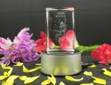 3D Laser Etched Crystal Glass Cube, Blank Crystal Cube for Engraving
